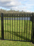 Majestic with rings Aluminum Fence design